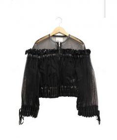 noir kei ninomiya(ノワール ケイ ニノミヤ)の古着「チュールジャケット」|ブラック