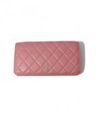 CHANEL(シャネル)の古着「長財布」|ピンク