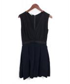 MIU MIU(ミュウミュウ)の古着「カシュクールワンピース」|ブラック