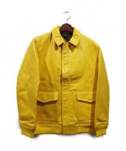 MR.GENTLEMAN(ミスタージェントルマン)の古着「レザージャケット」|イエロー