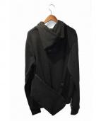 HOOD BY AIR(フッドバイエアー)の古着「17SS CELEBUTANTE HOODIE」|ブラック
