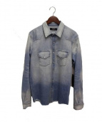 AMIRI(アミリ)の古着「ウエスタンダメージ加工デニムシャツ」|インディゴ