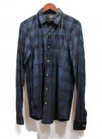 AMIRI(アミリ)の古着「コーティングレザーシャツ」