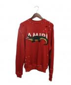AMIRI(アミリ)の古着「アリゲータースウェットシャツ」|レッド