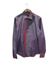 LOUIS VUITTON(ルイヴィトン)の古着「モノグラムスター柄シャツ」 ネイビー×レッド