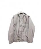 EMPORIO ARMANI(エンポリオエルマーニ)の古着「総柄フーテッドブルゾン」|ホワイト×ブラック