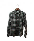 VALENTINO(バレンチノ)の古着「ウエスタン調ネルシャツ」 グリーン