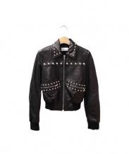 RED VALENTINO(レッドヴァレンティノ)の古着「スタッズレザージャケット」|ブラック