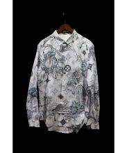 LOUIS VUITTON(ルイ・ヴィトン)の古着「総柄シャツ」 スカイブルー