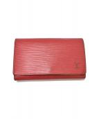 LOUIS VUITTON(ルイ・ヴィトン)の古着「ポルトモネ・トレゾール/2つ折り財布」|レッド