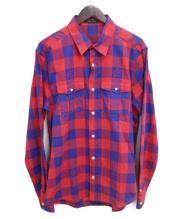 LOUIS VUITTON(ルイ・ヴィトン)の古着「マサイチェックシャツ」|レッド×ブルー