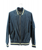 A.P.C.(アーペーセー)の古着「デニムMA-1ジャケット」|インディゴ