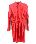 UNUSED(アンユーズド)の古着「プルオーバーシャツワンピース」|レッド