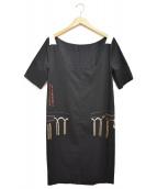 DRIES VAN NOTEN(ドリスヴァンノッテン)の古着「デザインワンピース」|ブラック