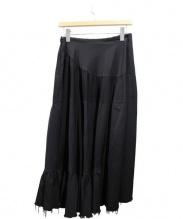 tricot COMME des GARCONS(トリココムデギャルソン)の古着「ティアードロングスカート」|ブラック