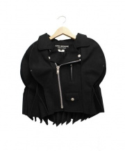JUNYA WATANABE COMME des GARCONS(ジュンヤワタナベ コムデギャルソン)の古着「ショート丈ライダースデザインポンチョ」 ブラック