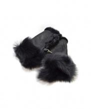GUSHLOW&COLE(ガシュロウアンドコール)の古着「ムートングローブ」|ブラック