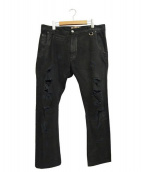 John Galliano(ジョンガリアーノ)の古着「デニムパンツ」|ブラック