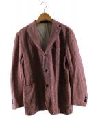 BOGLIOLI(ボリオリ)の古着「総柄テーラードジャケット」|レッド