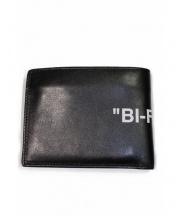 OFFWHITE(オフホワイト)の古着「BI-FOLD WALLET」|ブラック