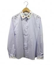 GUCCI(グッチ)の古着「襟刺繍シャツ」|スカイブルー