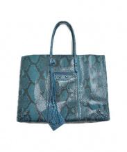 BALENCIAGA(バレンシアガ)の古着「パイソントートバッグ」 ブルー