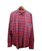 LOUIS VUITTON(ルイ・ヴィトン)の古着「シルクチェックシャツ」|レッド