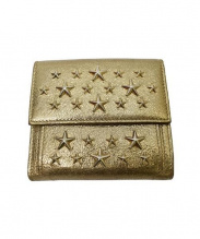 JIMMY CHOO(ジミーチュウ)の古着「スタースタッズ折り財布」|ゴールド