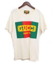 GUCCI(グッチ)の古着「18AW/DAPPER DAN Tシャツ」|ベージュ