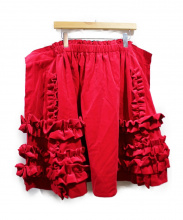COMME des GARCONS(コムデギャルソン)の古着「ベロアスカート」|レッド