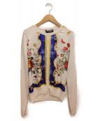 DOLCE&GABBANA(ドルチェ&ガッバーナ)の古着「スカーフデザインカーディガン」