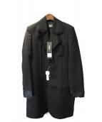 YANG LI(ヤン リー)の古着「16AW LIGHT  WEIGHT SERGED COAT」|ブラック