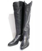 FACETASM(ファセッタズム)の古着「ウェスタンロングブーツ」|ブラック