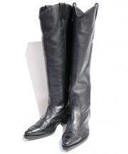 FACETASM(ファセッタズム)の古着「ウェスタンロングブーツ」 ブラック