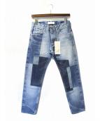FACETASM(ファセッタズム)の古着「パッチワークデザインデニムパンツ」|インディゴ