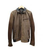 JOSEPH HOMME(ジョセフ オム)の古着「レザー切替ジャケット」