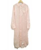 Thom Browne(トムブラウン)の古着「シルクブラウスワンピース」|ピンク