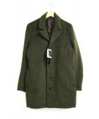 NO ID.(ノーアイディー)の古着「シャギータッチビーバーチェスターコート」|グリーン