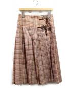 TOGA PULLA(トーガ プルラ)の古着「ラップスカート」|オレンジ