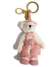 PRADA(プラダ)の古着「ベアチャームキーホルダー」|ホワイト×ピンク