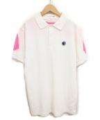 COMME des GARCONS SHIRT BOY(コムデギャルソンシャツ ボーイ)の古着「メッシュ切替ポロシャツ」 ホワイト
