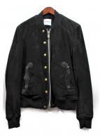 TAKAHIRO MIYASHITA The Solois(タカヒロミヤシタ ザ ソロイスト)の古着「スウェードレザーボンバージャケット」|ブラック