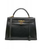 HERMES (エルメス) ケリーバッグ32 ブラック サイズ:32 外縫い ○U 1991年
