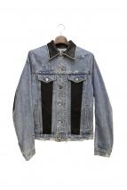 AMIRI(アミリ)の古着「レザー切替デニムジャケット」|インディゴ