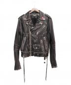 AMIRI(アミリ)の古着「18AW/ライダースジャケット」|ブラック