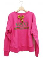 GUCCI(グッチ)の古着「リボン付きスウェット」|ショッキングピンク