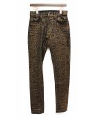 AMIRI(アミリ)の古着「ダメージ加工デニムパンツ」|ブラウン