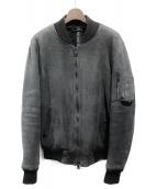 GIORGIO BRATO(ジョルジオブラット)の古着「ムートンジャケット」|グレー
