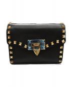 VALENTINO(バレンチノ)の古着「ロックスタッズミニショルダーバッグ」|ブラック