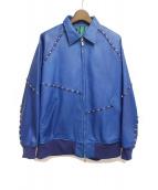 sulvam(サルバム)の古着「19SS/装飾レザージャケット」|ブルー
